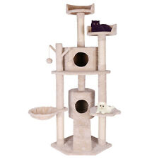 """63"""" Cat Tree Tower Condo Scratcher Post Pet Kitten House Cat Play Toy Furniture"""