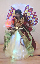 NEW African American Lighted Angel Home Decor Color Change LED Fiber Optics