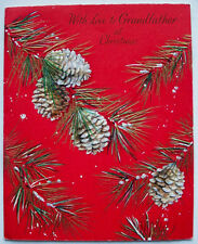 Unused With love to Grandfather at Hallmark Christmas vintage greeting card *N