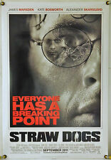 STRAW DOGS DS ROLLED ADV ORIG 1SH MOVIE POSTER KATE BOSWORTH JAMES MARSDEN(2011)
