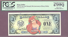 2007 $1 T Disney Dollars LITTLE MERMAID 20TH ANNVER PCGS 67 PPQ SUPERB GEM PIXIE