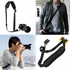 Black Single Shoulder Neck Strap Belt Sling for Nikon Canon EOS Camera DSLR SLR