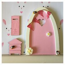 Pretty Hand Painted Magical Tooth Flower Fairy Door Personalised