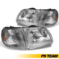 1997-2003 Ford F150/ Expedition/Lightning Style New 4Pc Set Headlights Headlamps