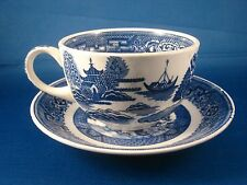 Homer Laughlin Blue Willow Transfer Cup And Saucer