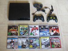 Playstation 3 Slim Konsole 120GB komplett mit 2 Controller und 3 Gratis Spiele
