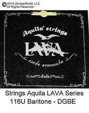 Ukulele STRINGS - Baritone - 116U - Aquila LAVA SERIES - Key of G DGBE