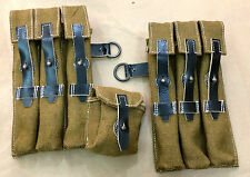 WWII GERMAN MP40 MAGAZINE POUCH SET - JUTE Fabric (Custom-Made)