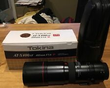 Tokina AT-X400AF CANON 400mm F5.6 Auto Focus Lens Close Focus C/EF With Bag/Box