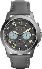 Fossil Grant Chronograph Gray Leather Men's Watch FS5183
