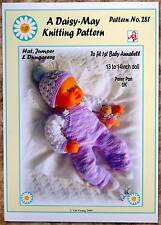 1  DOLLS KNITTING PATTERN  for 1st Baby Annabell Doll 13 /14ins No 281 Daisy-May
