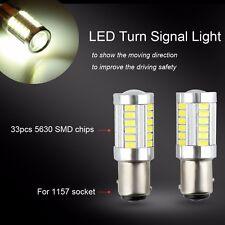 2pcs 1157 BAY15D 33SMD 5630 White Bright Car LED Brake Stop Light Bulbs Lamp