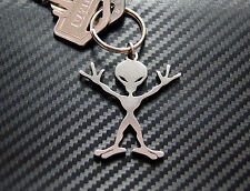 ALIEN Extraterrestrial Space Man E.T Science Fiction Keyring Keychain Steel