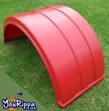 RED MOULDED TRUCK DUAL WHEEL MUDGUARD SUIT KENWORTH SEMI TRAILER IVECO FORD MAN