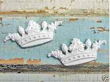 Shabby & Chic Baby Crowns  ( 4 PC )  * Furniture Appliques  !