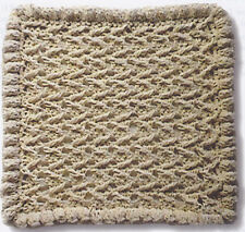 Crochet Pattern ~ ZIG ZAG DISHCLOTH ~ Instructions