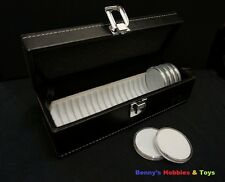 New Storage Box / Case For Coin Holder + 20 Acrylic Coin Holders, Mix your size