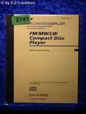 Sony Bedienungsanleitung CDX 4150RDS CD Player (#2741)