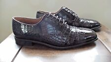 RARE $1000+ MEZLAN PLATINUM Brown Genuine Crocodile Alligator Loafers Boots Shoe