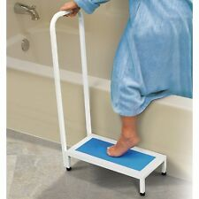 Bathtub & Shower Step Stool With Handle & Non-Slip Grip-Steel Holds up to 500lbs