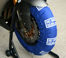 Motorcycle Tire Warmers Set, 120 / 190, Tyre Warmers, Blue