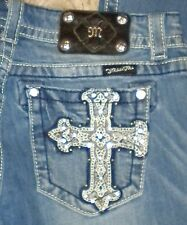 TAG SZ 29 WOMENS Bling Cross MISS ME # JP5404BV Boot STRETCH JEANS Actual 31X32