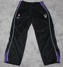 TORONTO RAPTORS Reebok Snap Pants Basketball Men's LARGE L Black Jersey NBA vtg