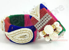 Fancy Threads Bangles Kada Bracelet Cuff Stone Kundan Pearls Ethnic Party - 1 PC
