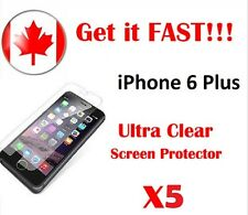 """iPhone 6 Plus HD Clear LCD Screen Protector x5 5.5"""" HIGH QUALITY"""