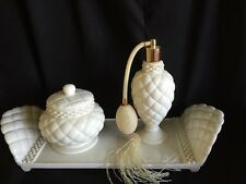 Avon Elegant Vanity Porcelain & Faux Pearl Set 1999-REDUCED - never used NEW