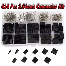 610Pc Wire Jumper 2.54mm Pin Header Connector Housing Female Male Crimp Pins Kit