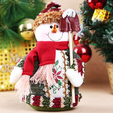 Christmas Xmas Snowman Standing Decoration Indoor Ornament Table Ornamen Gift