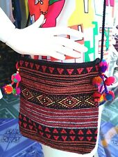 SHOULDER BAG THAI HMONG HANDICRAFT PURSE COIN COSMETIC WALLET ZIPPER HILL TRIBE