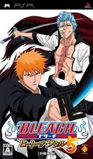Used PSP Bleach heat the soul 5  SONY PLAYSTATION JAPAN IMPORT