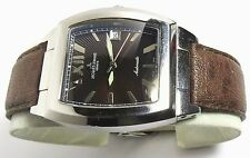 SWISS JACQUES LEMANS GENEVE G150 AUTOMATIC MENS WATCH BROWN DIAL WITH BOX