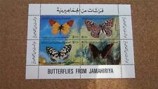 MNH JAMAHIRIYA Butterflies MINATURE SHEET (4 STAMPS) ~ LOT2