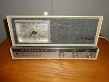 VINTAGE PANASONIC TABLE TOP AM/FM ELECTRIC CLOCK RADIO MODEL RC-615