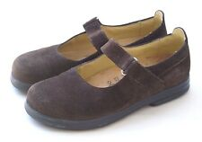 Birkenstock Footprints 37 Narrow Brown Suede Mary Jane Women's Shoes  6.5 US