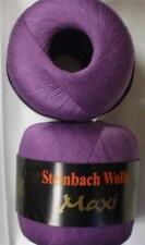 STEINBACH WOLLE MAXI MERCERIZED COTTON LACE YARN 100g 1 BALL GRAPE JAM (17B)