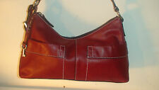 ROOTS  #3] FOSSIL  CHERRY RED   ALL LEATHER   EMILY SHOULDER BAG