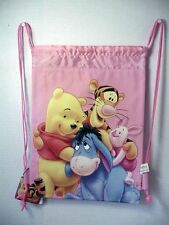 WINNIE THE POOH & FRIENDS BOOK BAG / CINCH SACK PINK #13