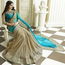 SARI INDIAN BOLLYWOOD PARTY WEAR SAREE PAKISTANI WEDDING BRIDAL ETHNIC SARI  162
