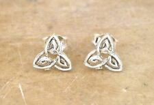 CUTE STERLING SILVER CELTIC TRINITY KNOT STUD EARRINGS  style# st84