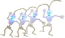 20 Halloween Skeleton Lights With Blue LED Lights - 1.8m Length - Battery (L235)