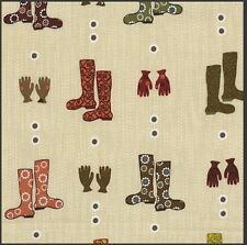 Nordic Stof Boots Gloves Wellingtons 4507-779 100% cotton fabric quilting craft