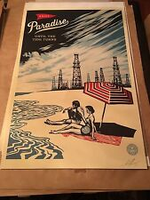 "OBEY Giant Shepard Fairey 2016 ""Paradise Turns"" Lithograph Signed"