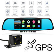 TOGUARD M30 7'' HD 1080P Bluetooth GPS Car Camera DVR Rearview Mirror UK STOCK
