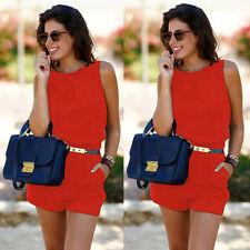 d142b3594111 Summer Womens Backless Playsuit Dress Ladies Jumpsuit Romper Beach Jumpsuit  L
