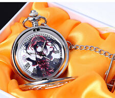 Japanese Anime Date A Live Tokisaki Kurumi Pocket Watch with chain