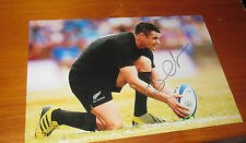 "Dan Carter (NZ All Blacks) signed 8""x12"" Photo -Man of Match RWC 2015 fin"